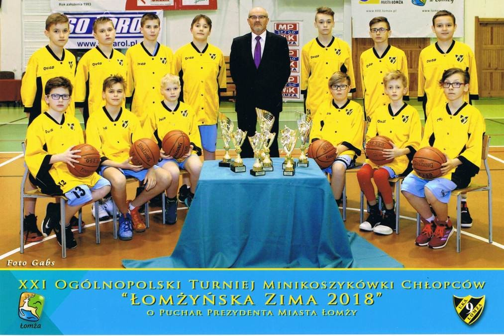 """MPWiK wspiera turniej minikoszykówki chłopców """"Łomżyńska Zima 2018""""."""