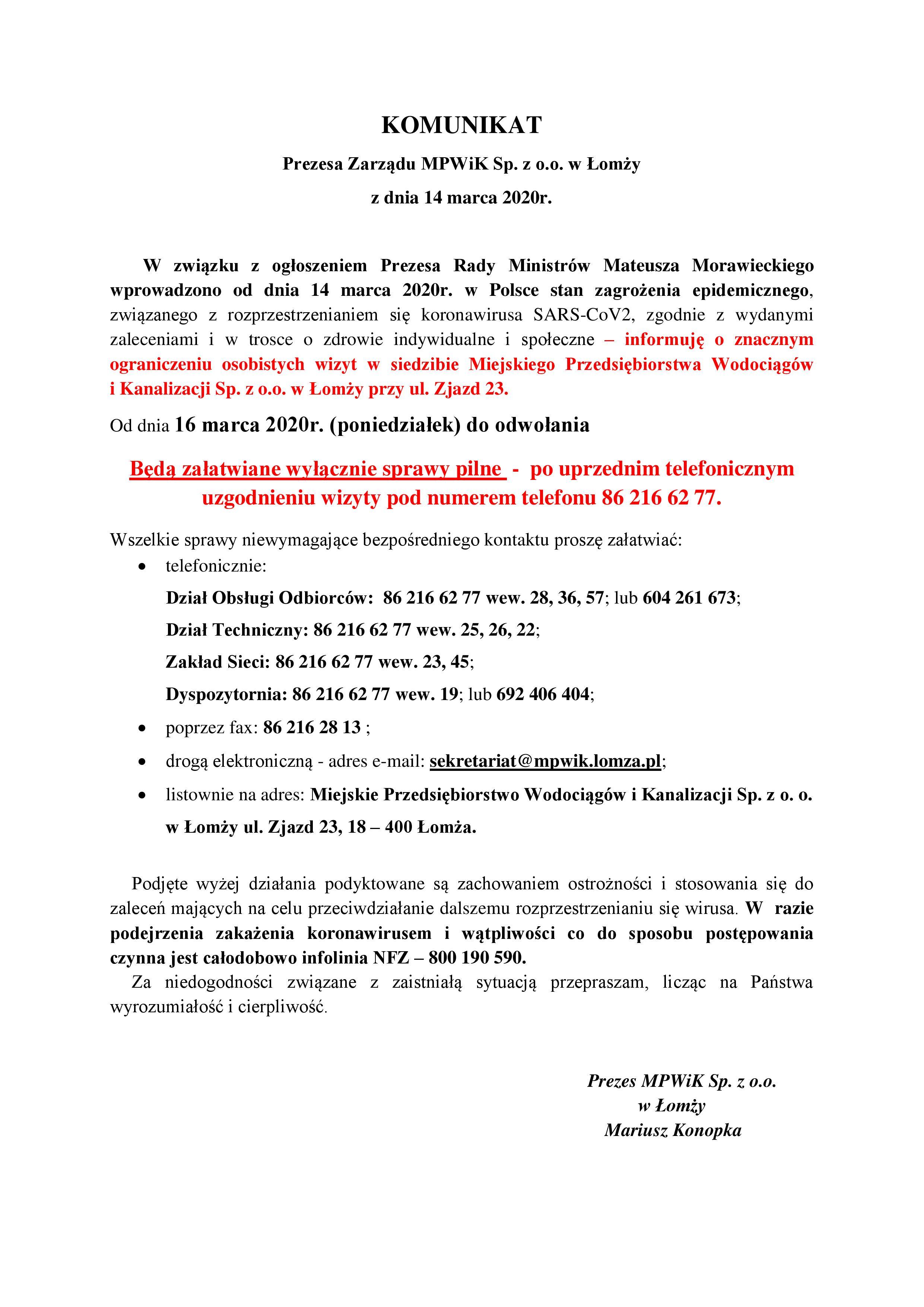 200314 Komunikat Prezesa MPWiK PDF-page-001